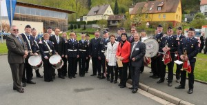 Der Kreisspielmannszug der Freiwilligen Feuerwehren des Landkreises Bayreuth aus Heinersreuth hat die Veranstaltung musikalisch umrahmt und wurde vom Bundesinnenminister Dr. Hans-Peter Friedrich begrüßt.